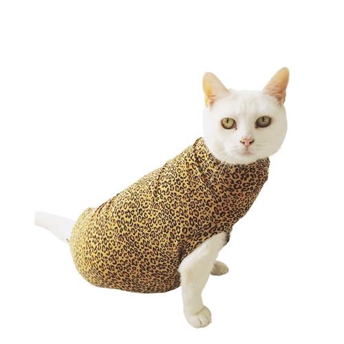 Medical Pet Shirt Katze Leopard-Muster