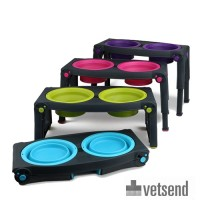 Popware Adjustable Height Pet Feeder