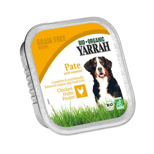 Yarrah - Hundefutter Paté Huhn mit Meeresalgen Bio
