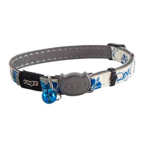 Rogz Beltz GlowCat Blue Floral
