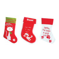 Santa Stocking Cat
