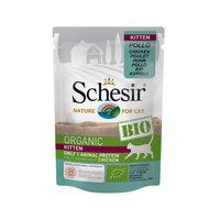 Schesir BIO - Poulet - Sachet Fraîcheur pour Chaton