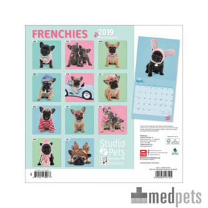 Product afbeelding van Studio Pets Frenchies Kalender 2019