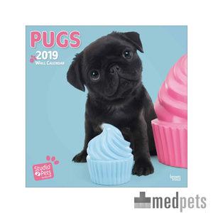 Product afbeelding van  Studio Pets Pug Kalender 2019