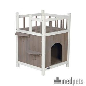 Product afbeelding van Trixie Natura Kattenhuis met Balkon