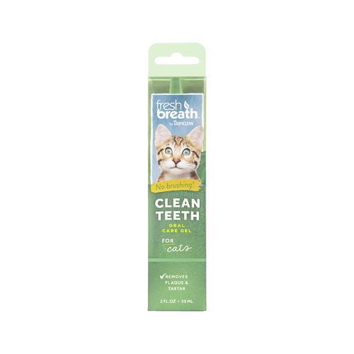 TropiClean - Fresh Breath Clean Teeth OralCareGel - Cat