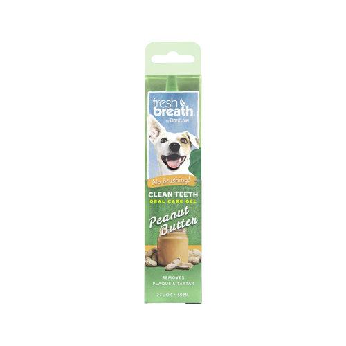 TropiClean - Fresh Breath OralCareGel Kit Peanut Butter - Dog