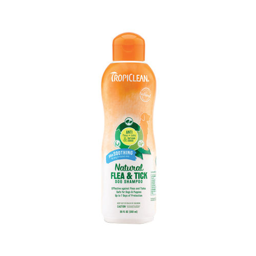 TropiClean Natural Flea & Tick Dog Shampoo Plus Soothing