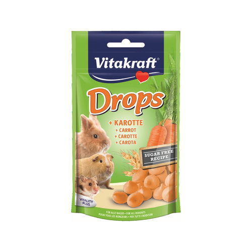 Vitakraft Drops Konijn & Knaagdier - Wortel