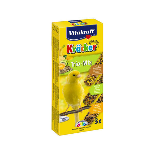 Vitakraft Kräcker Trio-Mix Kanarie - Ei, Kiwi & Banaan