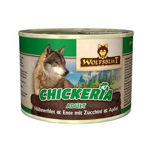 Wolfsblut Chickeria Adult Wet  - Hühnerfilet & Ente mit Zucchini & Apfel