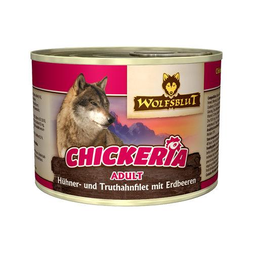 Wolfblut Chickeria Adult Wet - Huhn & Pute mit Erdbeere