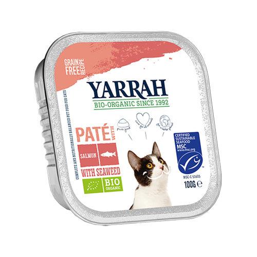 Yarrah - Bio Paté Multipack Zalm - Kat