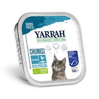 Yarrah - Katzenfutter Bröckchen Huhn und Fish mit Spirulina Bio