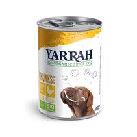 Yarrah - Bouchées avec Morceaux en Boîte Bio au Poulet pour Chien