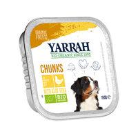 Yarrah - Natvoer Hond Kuipje Chunks met Kip Bio