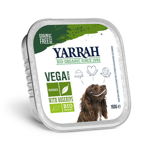 Yarrah - Hundefutter in Soße Vega mit Hagebutten Bio
