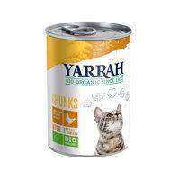 Yarrah - Bouchées en Conserve Bio au Poulet pour Chat