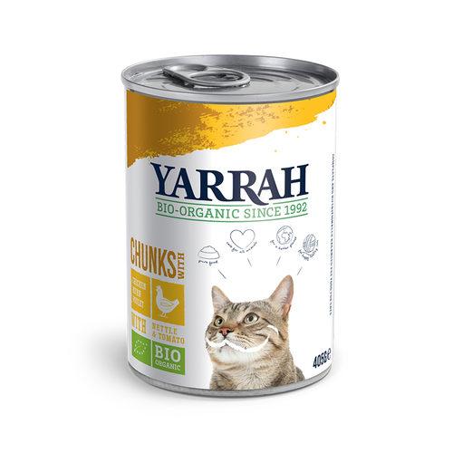 Yarrah - Natvoer Kat Blik Chunks met Kip Bio