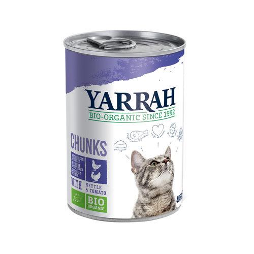 Yarrah - Bröckchen in Soße Huhn & Truthahn mit Brennnessel & Tomate Bio