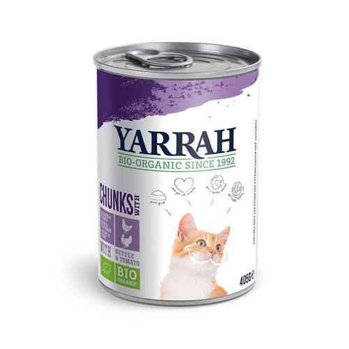 Yarrah - Natvoer Kat Blik Chunks met Kip & Kalkoen Bio