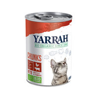 Yarrah - Cat Food Chunks with Chicken and Beef Bio