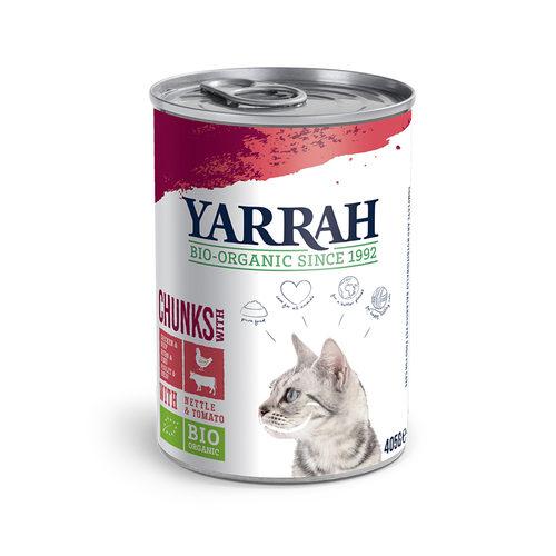 Yarrah - Natvoer Kat Blik Chunks met Kip & Rund Bio