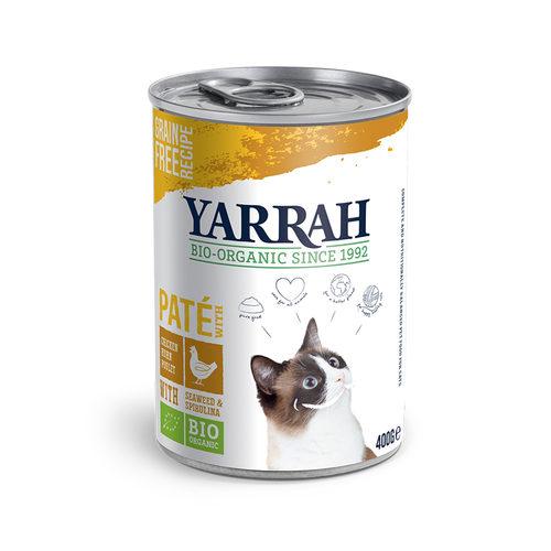 Yarrah - Katzenfutter Paté Huhn mit Spirulina und Meeresalgen Bio