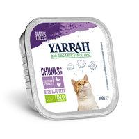Yarrah - Bouchées en Barquette Bio au Poulet & Dinde pour Chat