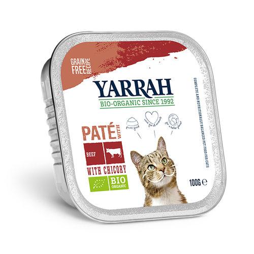 Yarrah - Katzenfutter Paté Rind mit Chicorée Bio