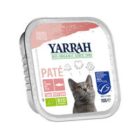 Yarrah - Patée en Barquette Bio au Saumon pour Chat