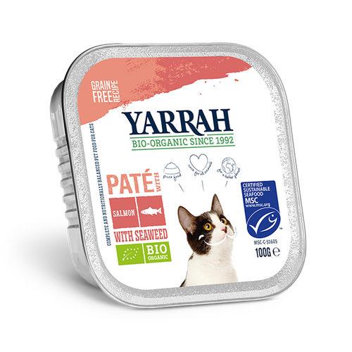 Yarrah - Paté Kat Kuipje met Zalm Bio