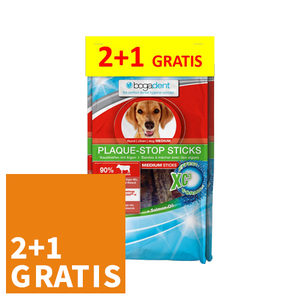 ACTIE Bogadent Plaque-Stop Sticks - Medium Dog - 2x 100 gram + 100 gram gra