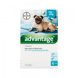 Advantage 100 hond 4-10kg - 4 x 1 ml
