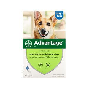 Bayer 400 vanaf 25 kg advantage hond 4 pipetten