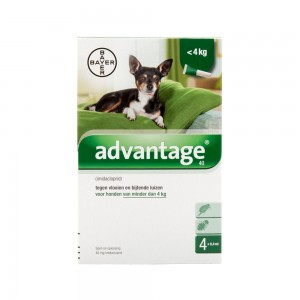 Advantage 40 hond < 4kg - 4 x 0.4 ml
