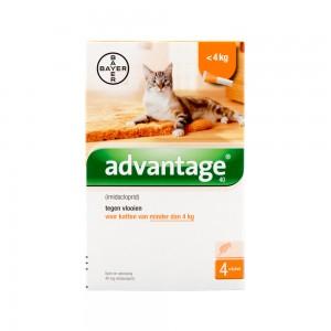Advantage 40 kat <4 kg - 4 pipetten