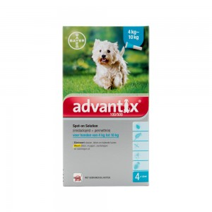 Advantix 100/500 - 4 tot 10 kg - 4 pipetten