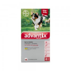 Advantix 250/1250 - 10 tot 25 kg - 4 pipetten