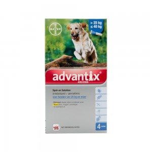 Advantix 400/2000 - 25 tot 40 kg - 4 pipetten