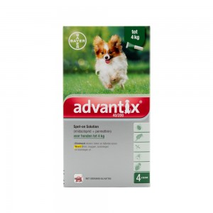 Advantix 40/200 - 1,5 tot 4 kg - 4 pipetten