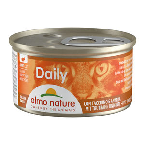 Almo Nature - Daily Menu Blokjes - Kalkoen & Eend - 24 x 85 gram