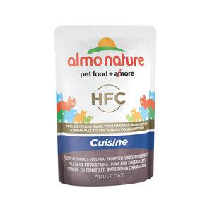 Almo Nature HFC - Cuisine Tonijn- en Tongfilet - 24 x 55 gr