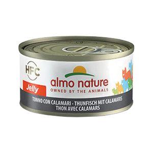 Almo Nature HFC 70 Jelly - Tonijn met Inktvis - 24x70g