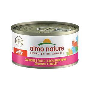 Afbeelding Almo Nature HFC Jelly Zalm en Kip 70 gr Per 24