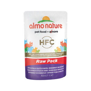 Almo Nature HFC - Raw Pack Kipfilet en Eendenfilet - 24 x 55 gr