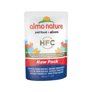 Almo Nature HFC - Raw Pack SkipJack Tonijnfilet - 24 x 55 gr