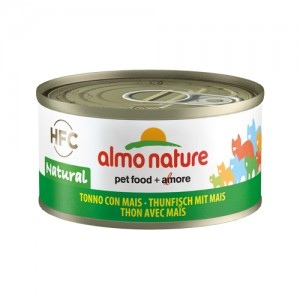 Almo Nature HFC 70 Natural - Tonijn met Maïs - 24x70g