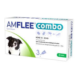 Amflee Combo Spot-on Hond - 134 mg (10-20 kg) - 3 pipetten