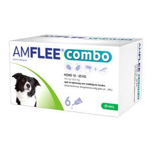 Amflee Combo Spot-on Hond – 134 mg (10-20 kg) – 6 pipetten